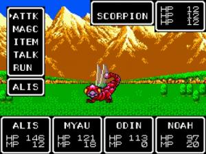 Scorpion är en av spelets enklare fiender.