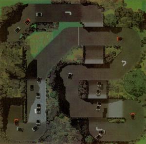 Så här kan en enkel bana i Super Cars II se ut. Klicka på bilden för att se en större version.