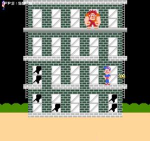 Röjar-Ralf och Felix i aktion på NES.