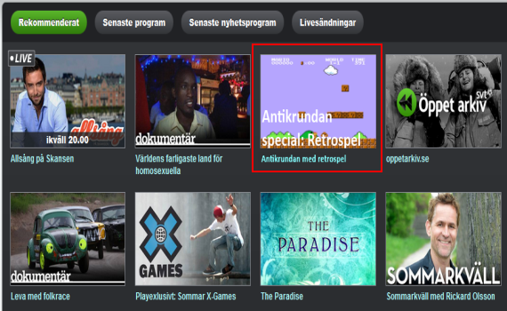 Kanske kan det se ut så här på SVT Play i framtiden?
