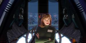 Exempel på FMV ur The Journeyman project - Pegasus Prime.